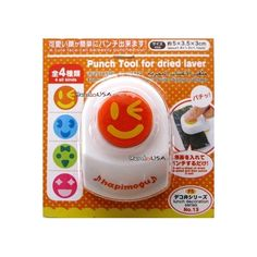 Japanese Bento Nori Puncher Seaweed Cutter Happy Face Wink