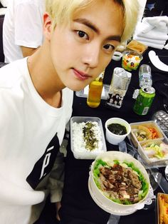 Jin ❤ 잘먹었습니다! 아 맛있어라 /I ate it well. It was good #3YearswithBTS #BTS #방탄소년단