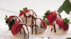 Sweet, juicy strawberries marry with chocolate for sweet success!