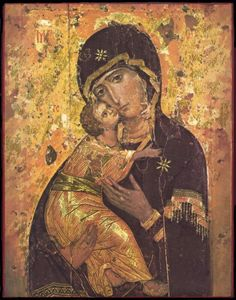 "The History Of The Icon The Vladimir Mother Of God The city of Vladimir (from which the icon takes its name) is located on the Klyazma [two syllables] River, about 100 miles East of Moscow. It's one of Russia's most ancient cities. (""Vladi"" means ""He who possesses/owns""; ""mir"" (in this instance) means ""the world."" Hence, Owner/King/Ruler of The World. In very much the same that Vladivostok means ""The Lord of the East."") Not so coincidentally, Vladimir is also the name of the first Grand…"