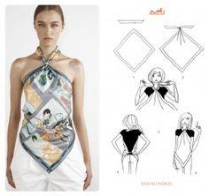 20 formas de ponerse un pañuelo tipo Hermès