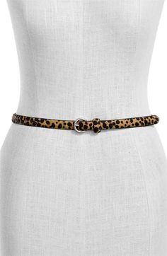 Fina Firenze 'Leopard - Skinny' Calf Hair Belt