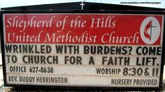 Funny Church Signs....