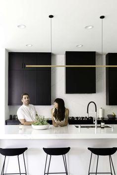 Trendy Kitchen Design Black And White Apartment Therapy