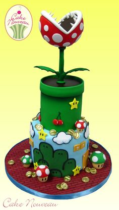 Super Mario Bros. cake by Cake Nouveau