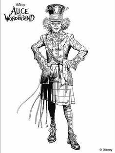 Tim Burton Alice In Wonderland Coloring Pages Colouring Pics, Disney Coloring Pages, Adult Coloring Pages, Coloring Books, Alice In Wonderland Drawings, Alice In Wonderland Party, Colorful Drawings, Colorful Pictures, Tim Burton