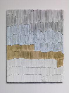 <p>Jurgen Ots <br> Periaqueductal Gray, 2013 <br> mixed media, vintage projector screens, scissors, glue, 104 x 131,5 x 2,5 cm</p>