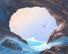 Sea Cave | 8 x 10 oil painting | Carol A. Mitchell | Flickr