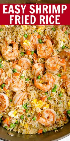 Faster than take-out, this spiced shrimp fried rice is so flavorful and easy to make! Everyone loves it, even the picky eaters! The secret to amazing flavors is scallion, sesame oil and fish sauce. Seafood Recipes, Beef Recipes, Cooking Recipes, Healthy Recipes, Rice Recipes, Healthy Meals, Shrimp Fried Rice, Shrimp Dishes, Recipes