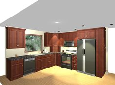 Advantages of L-Shaped Kitchen Ideas - http://www.mertamedia.com/advantages-of-l-shaped-kitchen-ideas/ : #KitchenDesigns When it comes to planning the layout of your kitchen, there are many options designed to offer a space of work attractive and efficient. One of the most effective plants is the L-shaped kitchen as the name implies, requires L-shaped kitchen ideas arrangement, with appliances and cabinets...