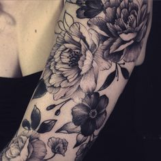 Flowers make good filler elements, the black and grey stops them from feeling too girly
