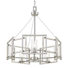 Golden Lighting Marco Pewter Five Light Chandelier 6068 5 Pw Rectangle Chandelier, 5 Light Chandelier, Chandelier Shades, Modern Chandelier, Chandeliers, Sloped Ceiling, Ceiling Lights, Wagon Wheel Chandelier, Thing 1