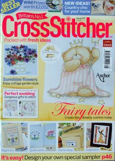 Cross Stitcher Issue 225 Cross Stitch Pattern Magazine May 2010 Cross Stitch Magazines, Cross Stitch Books, Cross Stitch Designs, Cross Stitch Patterns, Beaded Cross Stitch, Sewing Toys, Hobbies And Crafts, Cross Stitching, Creations