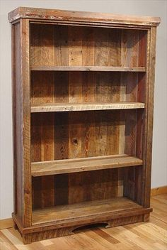 Recycled Pallet Wood #Bookcase - 7 DIY Old Rustic Wood Furniture Projects | DIY Recycled:
