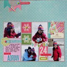 #papercraft #scrapbook #layout      Kim Holmes-Just Adrian layout Via Jillibean Soup Blog