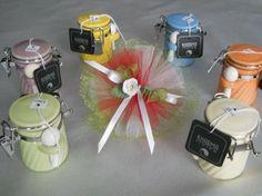 Bomboniere Matrimonio barattolini portaspezie con tricolore