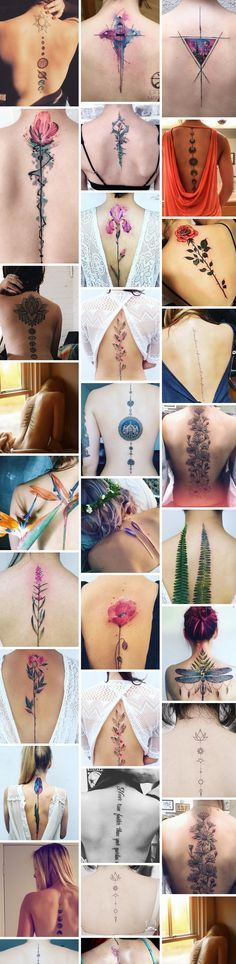 Latest Spine Tattoo Ideas for - Tattoo - diy tattoo - diy t Model Tattoos, Body Art Tattoos, New Tattoos, Sleeve Tattoos, Tattoos For Guys, Waist Tattoos, Tattoo Henna, Tattoo Trend, Diy Tattoo