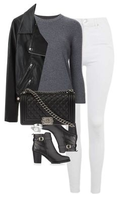 Untitled #1196 by lovetaytay on Polyvore featuring polyvore fashion style Alexander McQueen Acne Studios Topshop Kurt Geiger Chanel Marc Jacobs clothing