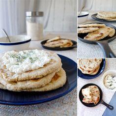 Fit tvarohová pita - recept Bajola Tzatziki, Hummus, Breakfast, Fitness, Recipes, Food, Diet, Morning Coffee, Recipies
