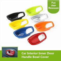 Car Interior Inner Door Handle Bowl Cover ABS Car Door Handles Decorative Cover Trim for Jeep Renegade 2015 2016