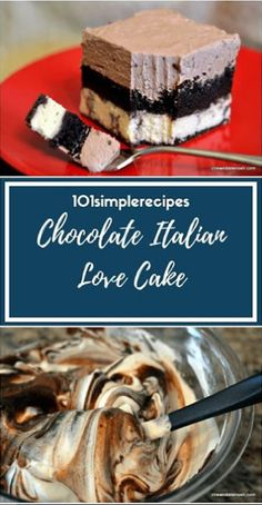 Chocolate Italian Love Cake - Mum Recipe Section Make Ahead Desserts, Frozen Desserts, Just Desserts, Delicious Desserts, Yummy Food, No Bake Treats, Yummy Treats, Sweet Treats, Fun Easy Recipes