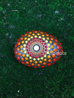 Mandala Stein von Hand bemalt mandala stone  handpainted