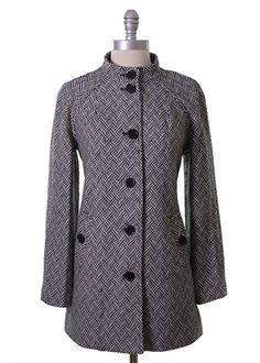 Geometric Tweed Coat from Tulle
