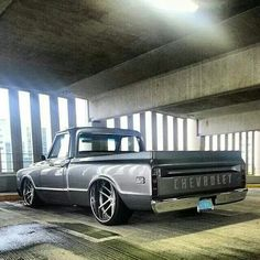 """Let's booty a adamantine attending at all the acceptable and the bad about the archetypal Chevy """"square body"""" auto truck. Chevy C10, 72 Chevy Truck, Classic Chevy Trucks, Chevy Pickups, Chevrolet Trucks, Lowered Trucks, Gm Trucks, Cool Trucks, Pickup Trucks"""