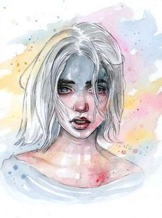 Wash away the colors by tomasz-mro on deviantart art inspo искусство, искус Pen And Watercolor, Watercolor Portraits, Watercolor Paintings, Watercolours, Art Sketches, Art Drawings, Arte Sketchbook, Art Plastique, Portrait Art