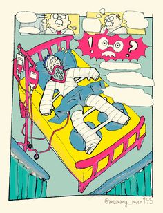 full body cast Broken Arm Cast, Full Body Cast, Leg Cast, Bart Simpson, Arms, Fictional Characters, Fantasy Characters, Weapons