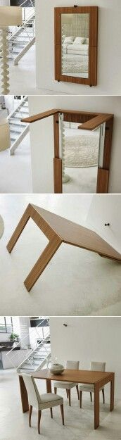 Fold away dining table