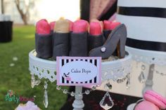 Kara's Party Ideas Lipstick Cake Pops from a Barbie Fashion Birthday Party via Kara's Party Ideas | KarasPartyIdeas.com (10) | Kara's Party Ideas