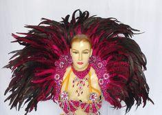 Da NeeNa MULB Rainbow Drag Vegas Feather Showgirl Backpiece