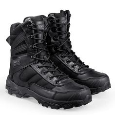 Tactical Boots For Men Lightweight Wear Resistant Military Footwear All Purpose Combat Boots Quick Zip Slip On Feature - 2 Colors Camo Boots, Shoes Boots Ankle, Fashion Models, Mens Fashion, Military Combat Boots, Trekking Shoes, Hiking Shoes, Boating Outfit, Sneaker Boots