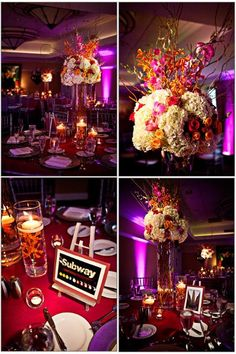 Like the style of centerpieces, different colors
