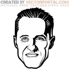 Michael Schumacher Image Free vector. More Free Vector Graphics, www.123freevectors.com