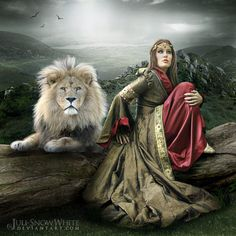 The Lion of The Tribe of Judah and one of His princesses who He is training to reign.waiting on The Father is rule number one. Braut Christi, Lion Photography, Tribe Of Judah, Bride Of Christ, Prophetic Art, Lion Of Judah, Lion Art, Armor Of God, Daughters Of The King