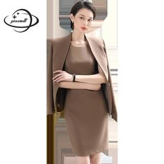 YAUAMDB women dress suits 2018 spring autumn S-3XL female blazer clothing  set blazer+ 039dc53fc5a5