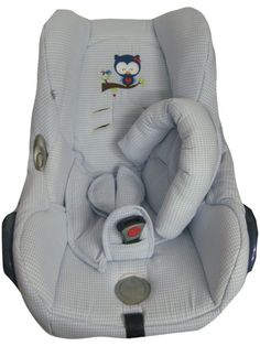 Ersatzbezug Maxi Cosi Cabriofix Bezug Vichy Eule von me Kinderkleidung und ersatzbezuege auf DaWanda.com
