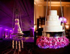Wedding Reception: Suspended Wedding Cakes - Aisle Perfect