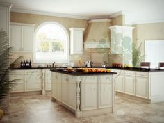 Ice White shaker kitchen and bathroom cabinets from Kitchen Cabinet Kings.