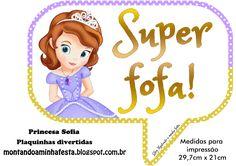 Montando minha festa: Plaquinhas divertidas Princesa Sofia Disney