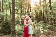 Hawk Mountain Sanctuary Vow Exchange | Private Vow Exchange Photographer|  Margaret and Annie