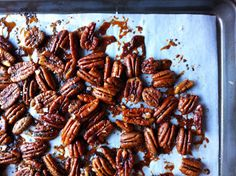 Maple Roasted Pecans with Nutmeg & Poppy Seeds