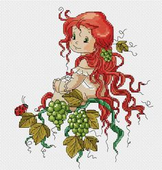 images attach c 11 128 255 Cross Stitch Fairy, Cross Stitch Angels, Cross Stitch For Kids, Cute Cross Stitch, Cross Stitch Designs, Cross Stitch Patterns, Cross Stitching, Cross Stitch Embroidery, Embroidery Patterns