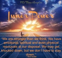 "Inner peace and strength quote via ""Time 2 Inspire"" at www.Facebook.com/Time222Inspire"