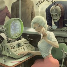 """Dedicated to all things """"geek retro:"""" the science fiction/fantasy/horror fandom of the past including pin up art, novel covers, pulp magazines, and comics. Arte Sci Fi, Sci Fi Art, Character Art, Character Design, Character Concept, Character Modeling, Science Fiction Kunst, Arte Peculiar, Bd Art"""