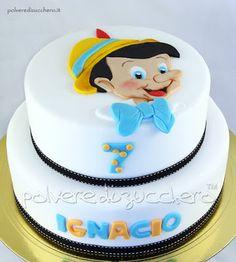 Torta Pinocchio in pasta di zucchero, Pinocchio Disney cake sugar paste