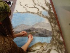 Laying out - for a felted landscape