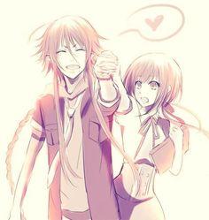 anime   couple   kamigami no asobi   loki   love   manga   otome game   smile   yui